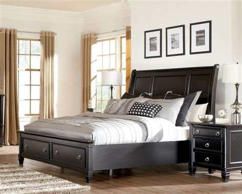 ashley furniture black bedroom set black storage bed bed mattress sale