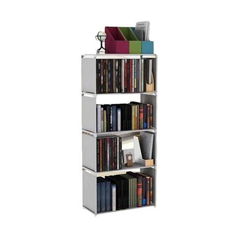 Rak Buku 4 Susun jual chanel7 rak lemari penyimpanan multi fungsi 4 susun grey harga kualitas