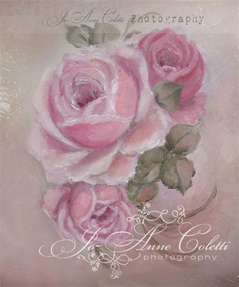 shabby chic paintings shabby chic roses vintage painting antique