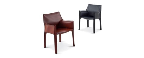 413 cab chairs by mario bellini cassina