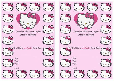 hello kitty printable birthday decorations hello kitty birthday invitations birthday printable