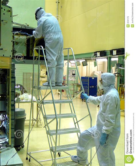 cleanroom technicians royalty  stock photo image