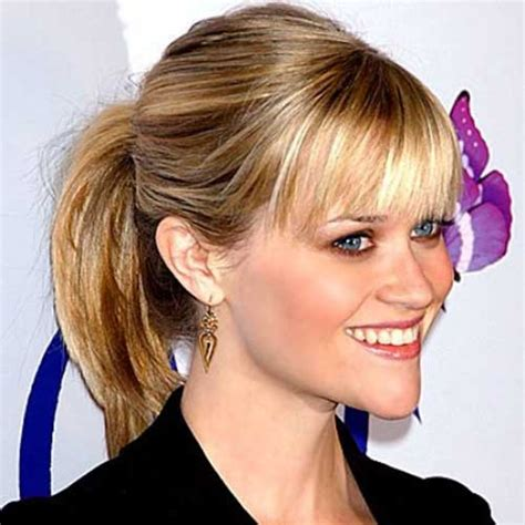 ponytail for short forehead 10 cute ponytails for short hair short hairstyles 2017