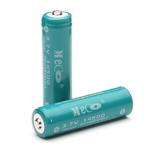 Battery Li Ion 14500 1200 Mah 2pcs meco 3 7v 1200mah rechargeable 14500 li ion battery alex nld