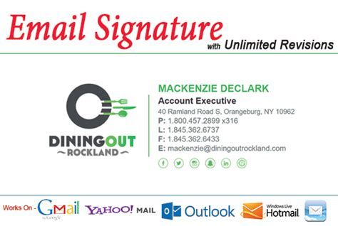 Create Professional Clickable Html Email Signature Html Email Signature Template