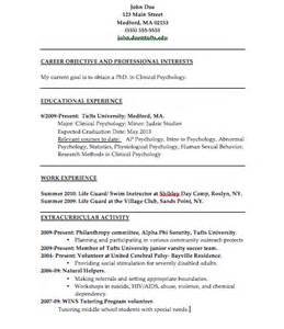 Psychology Resume Exles by The Psychology Of Resume Building College Magazine
