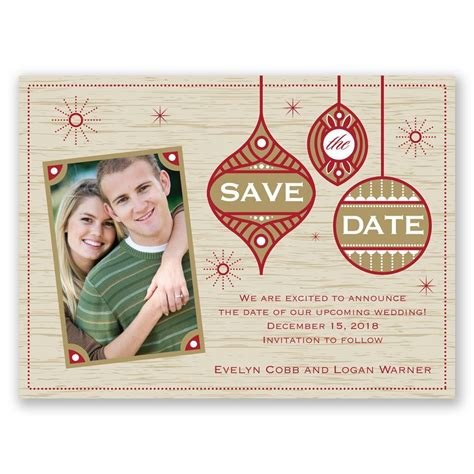 retro holiday holiday card save the date invitations by dawn