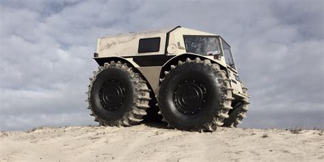 the sherp ATV is an amphibious vehicle for plowing through
