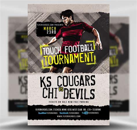 Touch Football Tournament Flyer Template Flyerheroes Tournament Flyer Template