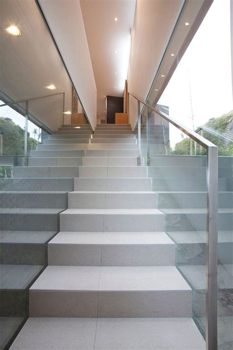stairs glass wall redcliffs house christchurch zealand map architects fresh palace