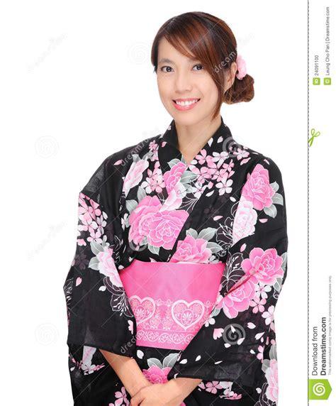 imagenes ropa japonesa mujer japonesa con la ropa tradicional foto de archivo