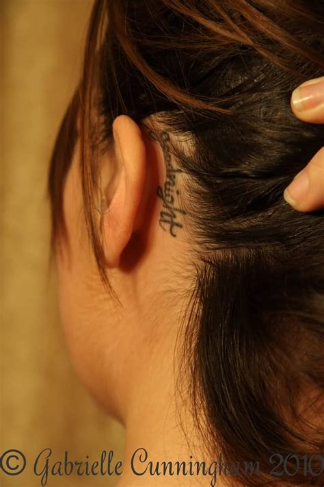 tattoo quotes behind ear 20 behind the ear word tattoos