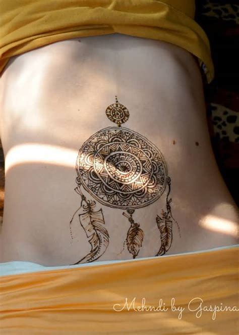 henna tattoo dream catcher 60 impressive temporary golfian