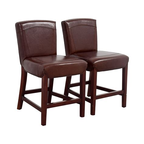 Crate And Barrel Bar Stool 79 Crate Barrel Crate Barrel Brown Leather Bar Stools Chairs