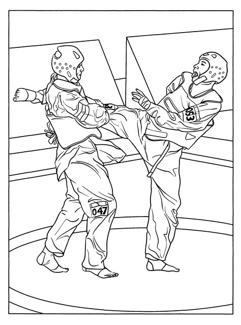 tai kwon do tae kwon do colouring pages coloring
