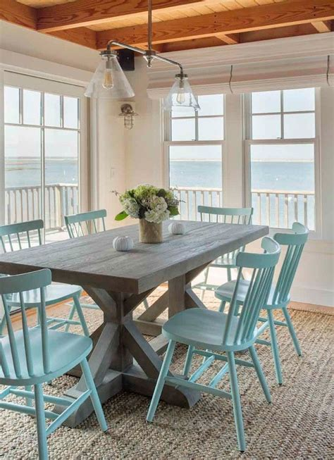 beach dining room 25 best ideas about painted dining chairs on pinterest