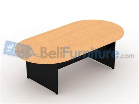 Meja Meeting Bulat Uno Uct8771 Walnut uno classic meja meeting oval 240 cm meja kantor murah bergaransi dan lengkap belifurniture