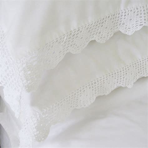 luxury bed linen pillowcases bedroom company - Lace Bed Linen