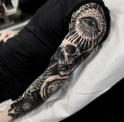 dark tattoos for men sleeve and tatting