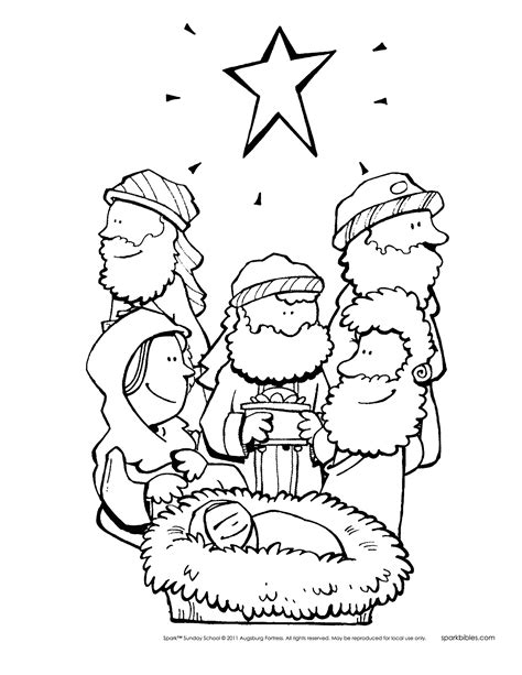 coloring pictures of christmas story spark story bible poster pack