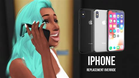 cc iphone 4 sims iphone x in the sims 4 how to install default replace