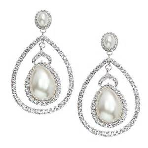 Pearl Chandelier Bridal Earrings Italian Luxe Collection Luxury Swarovski Wedding