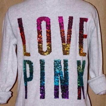 Jaket Hoodie Loser Lover 313 Clothing new s secret pink bling rainbow from kapuit on ebay