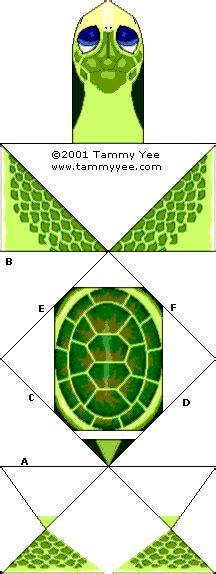Tammy Yee Origami - baby honu green sea turtle origami