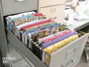 Shabby Chic Craft Rooms - hometalk repurposed sewing fabric storage