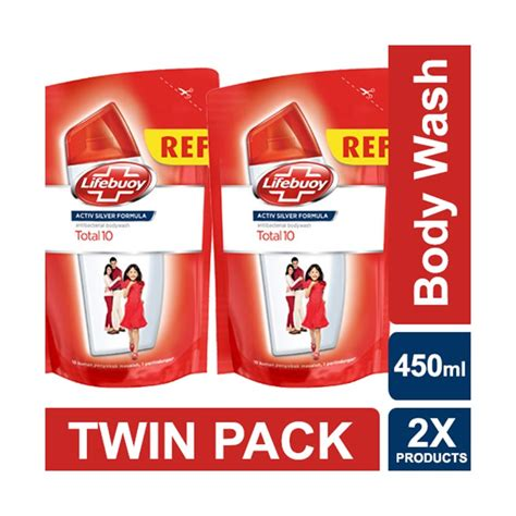 Sabun Cair Lifebouy Family Pack 450 Ml jual lifebuoy sabun cair total 10 refill pack 450 ml harga kualitas terjamin