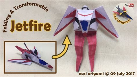 membuat origami robot transformer how to make a papercraft origami transformer jetfire