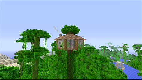 easy to build homes build easy jungle survival house minecraft youtube