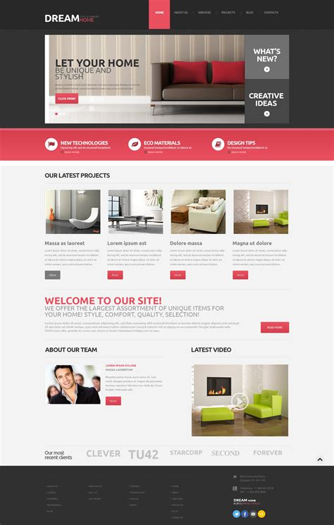 create layout for wordpress home decor responsive wordpress theme 48160