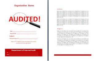 free audit report template free reports