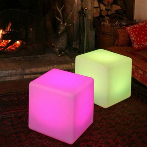 Outdoor Cube Lights Colour Changing Outdoor Light Cube By Jusi Colour Notonthehighstreet