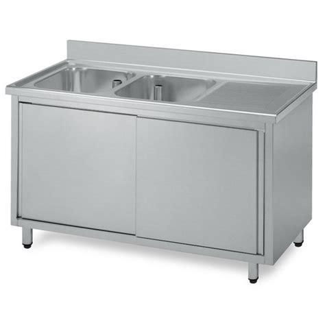 lavello due vasche lavello armadiato acciaio inox due vasche gocciolatoio dx