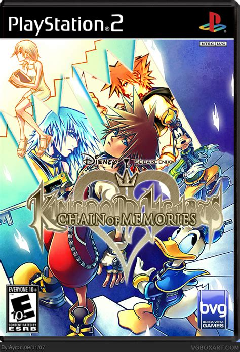 kingdom hearts chain of memories kingdom hearts chain of memories playstation 2 box