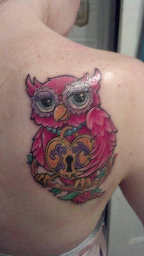 tattoo owl key lock and key owl tattoo tattoo pinterest