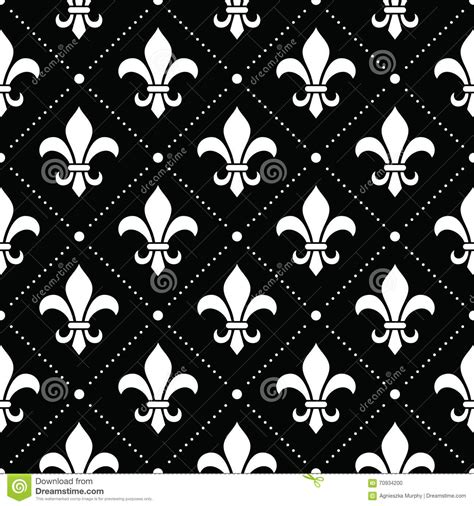 black and white french pattern french damask background fleur de lis white pattern on