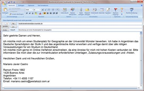 E Mail Bewerbung Praktikum Vorlage E Mail Muster Yournjwebmaster