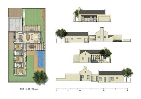 single level house plans with courtyard kelderhof country village courtyard house