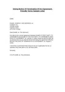 Termination Of Agreement Notice Letter Giving Notice Of Termination Of An Agreement Hashdoc