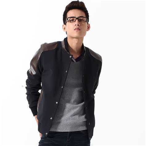 Jaket Boy Biru Dongker Lengan Hitam jaket baseball murah kombinasi dan polos