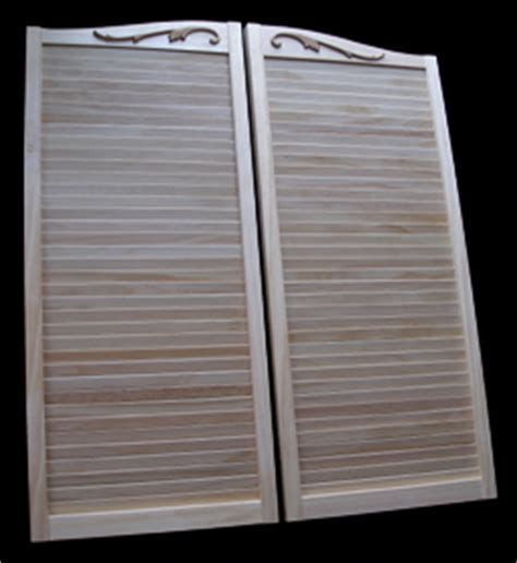 louvered swinging doors custom louvered pine swinging doors by swinging doors