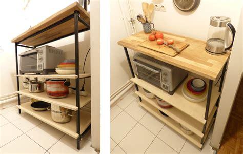 d馗oupe plan de travail cuisine desserte d 233 montable pour cuisine cl 233 mence mah 233