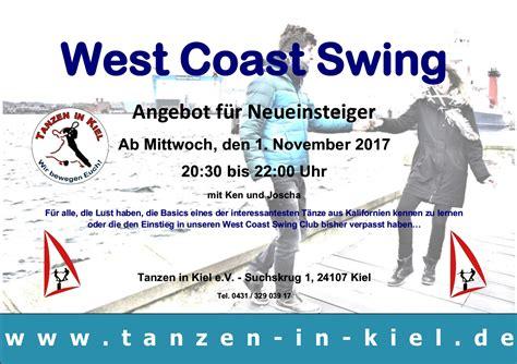 Neu West Coast Swing Einsteiger Tanzen In Kiel E V