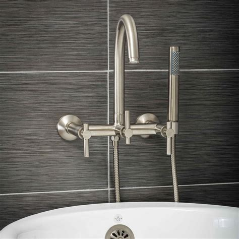 modern wall mount tub filler faucets pelham and white