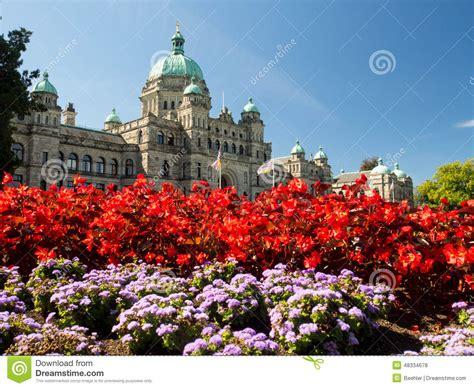 victoria bc floral design studio british columbia parliament building in full bloom stock