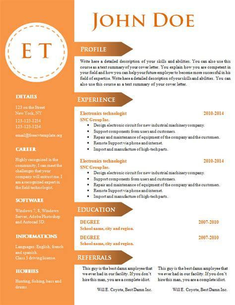 Resume Template Doc Word free cv resume template 740 746 free cv template dot org