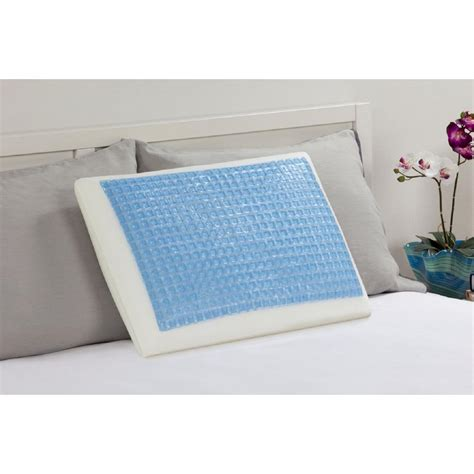 comfort revolution memory foam and hydraluxe cooling bed pillow comfort revolution memory foam and hydraluxe gel bed